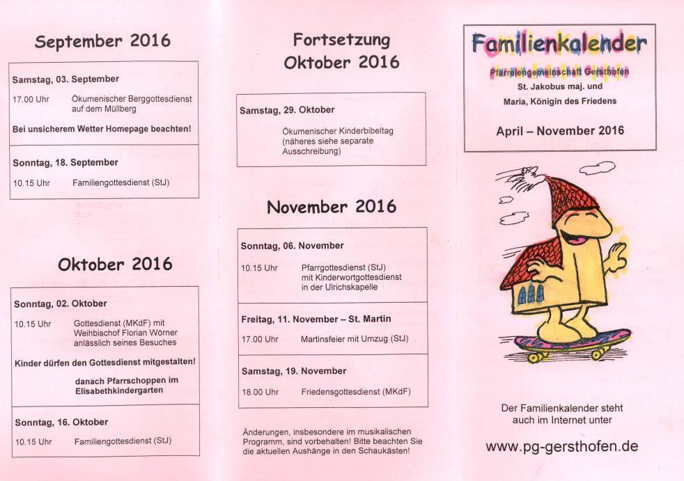 Der neue Familienkalender ist da!