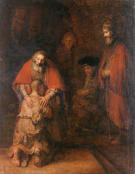 Die Rückkehr des verlorenen Sohnes (Rembrandt, Quelle: Wikipedia)