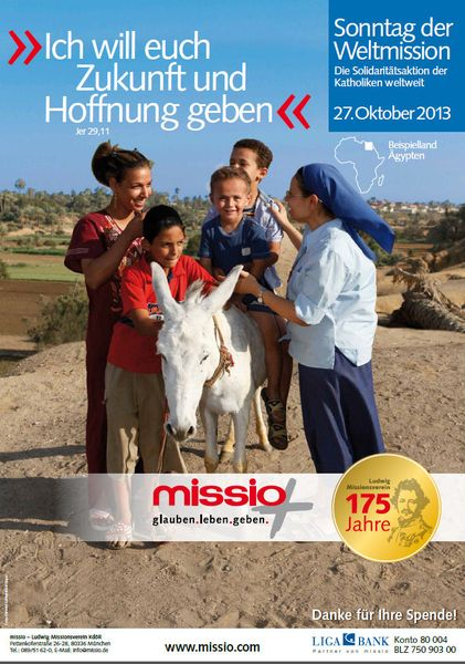 Plakat zum Weltmissionssonntag 2013