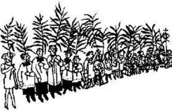 Palmbuschen stecken für Kinder am 10.04.2014