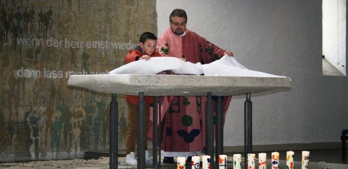 Weggottesdienst mit den Erstkommunionkindern