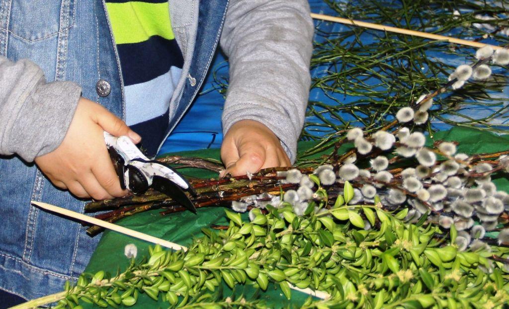 Palmbuschen binden für Kinder und Jugendliche