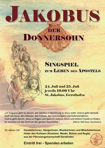 Jakobus Singspiel Plakat