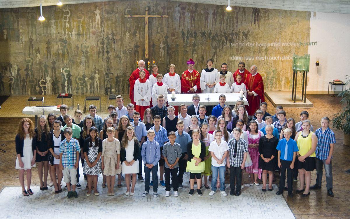 Firmung am Samstag, 11. Juli 2015, um 14.00 Uhr in Maria, Königin des Friedens