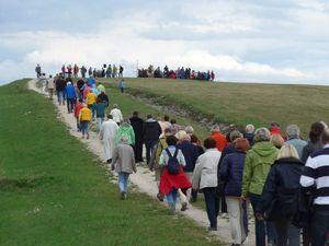 """Auf dem Weg zum """"Gipfel"""" des Schuttbergs im September 2015"""