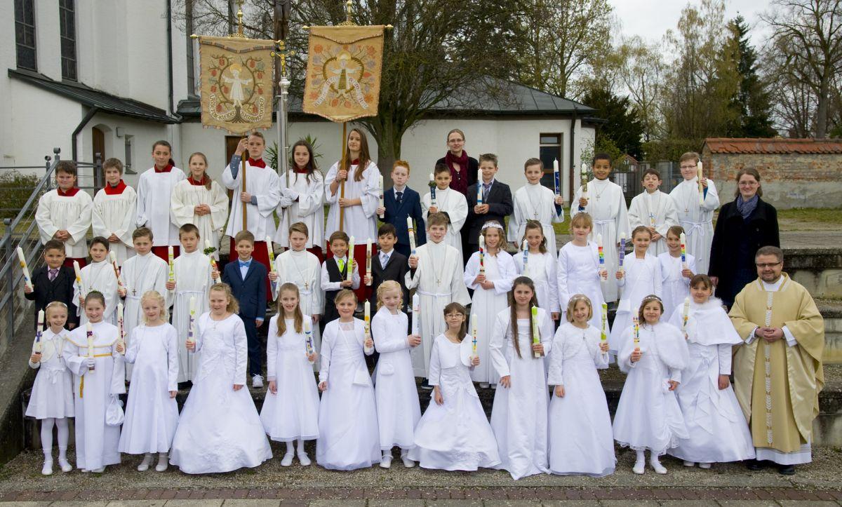 Erstkommunion am Samstag, 16. April 2016, in St. Jakobus