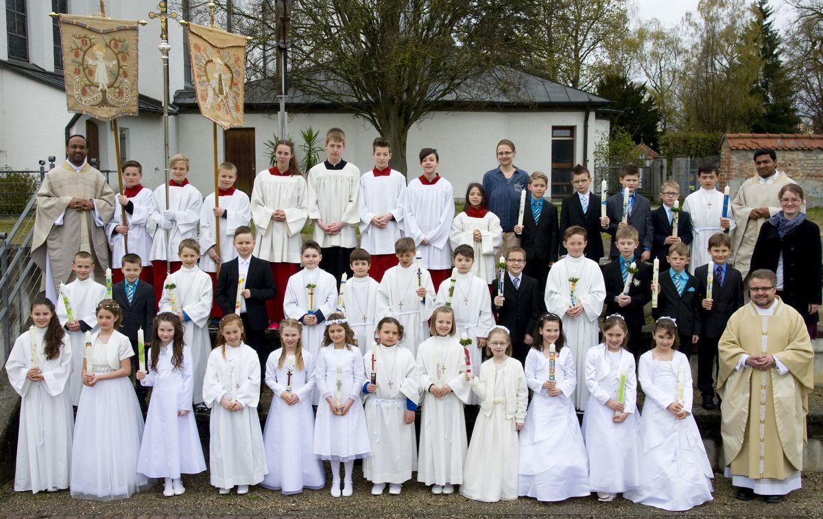 Erstkommunion am Sonntag, 17. April 2016, in St. Jakobus