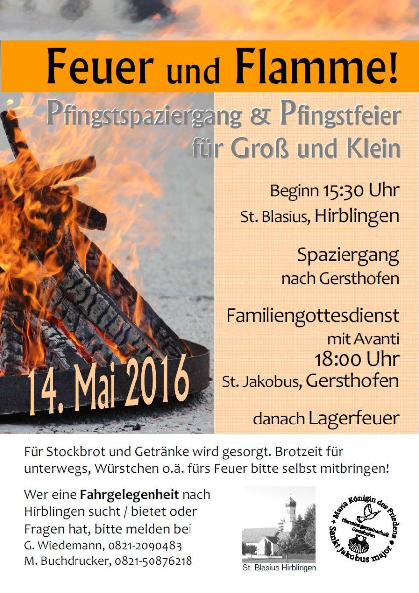 Pfingsten 2016 - Feuer und Flamme