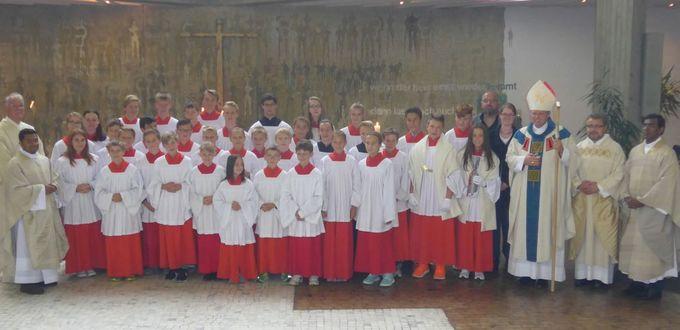Aufnahme neuer Ministranten in St. Jakobus