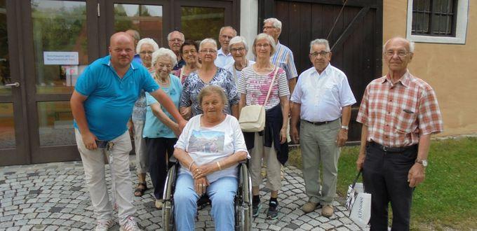 Senioren der Kolpingsfamilie Gersthofen in Oberschönenfeld