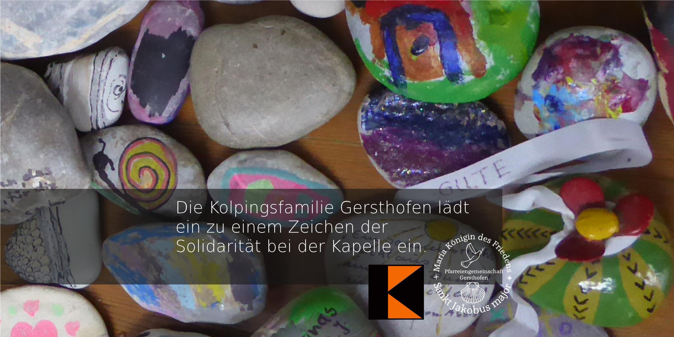 Die Kolpingsfamilie Gersthofen lädt ein zu einem Zeichen der Solidarität bei der Kapelle ein.