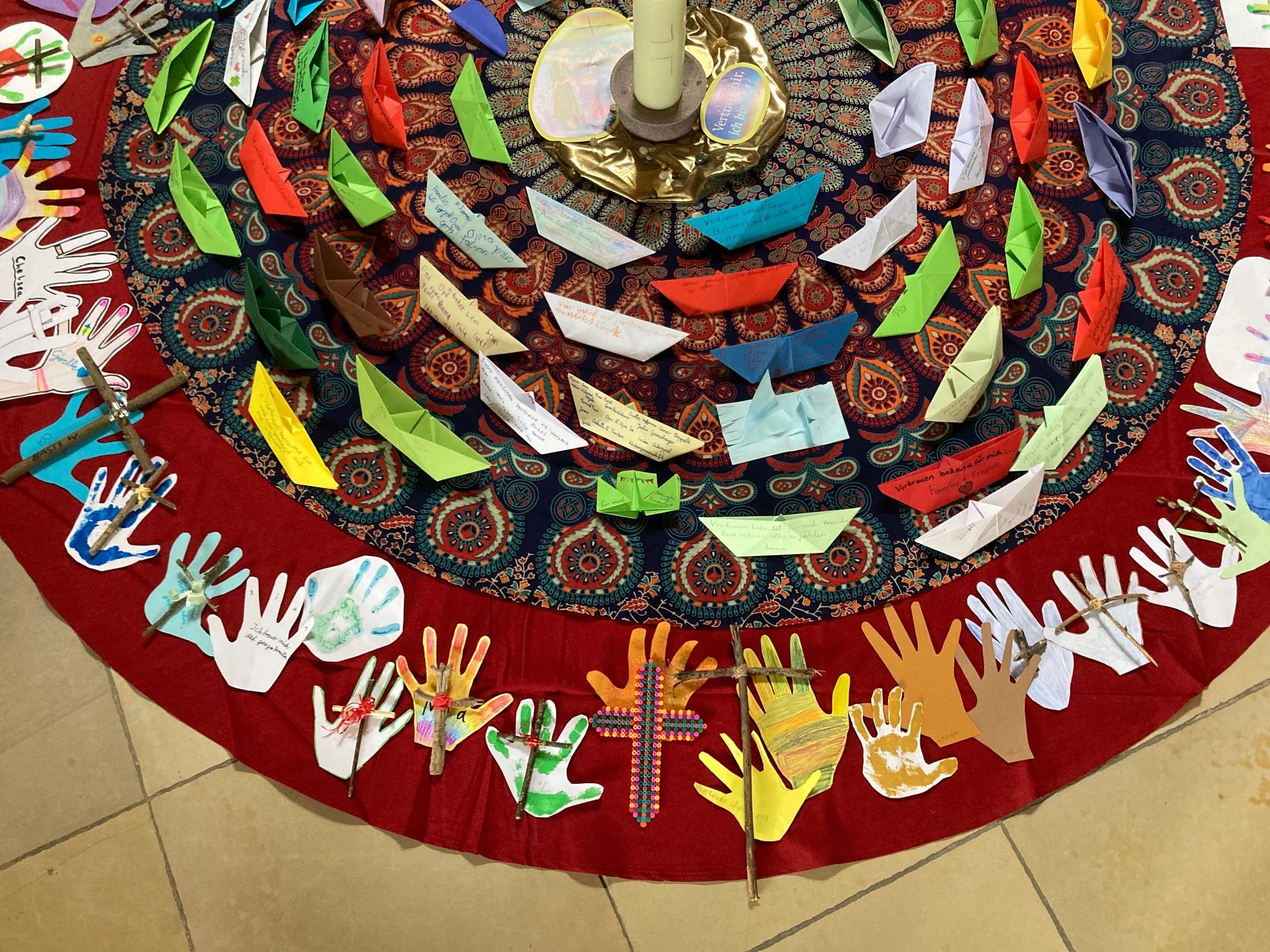 Erstkommunion-Mandala: 4. Aufgabe